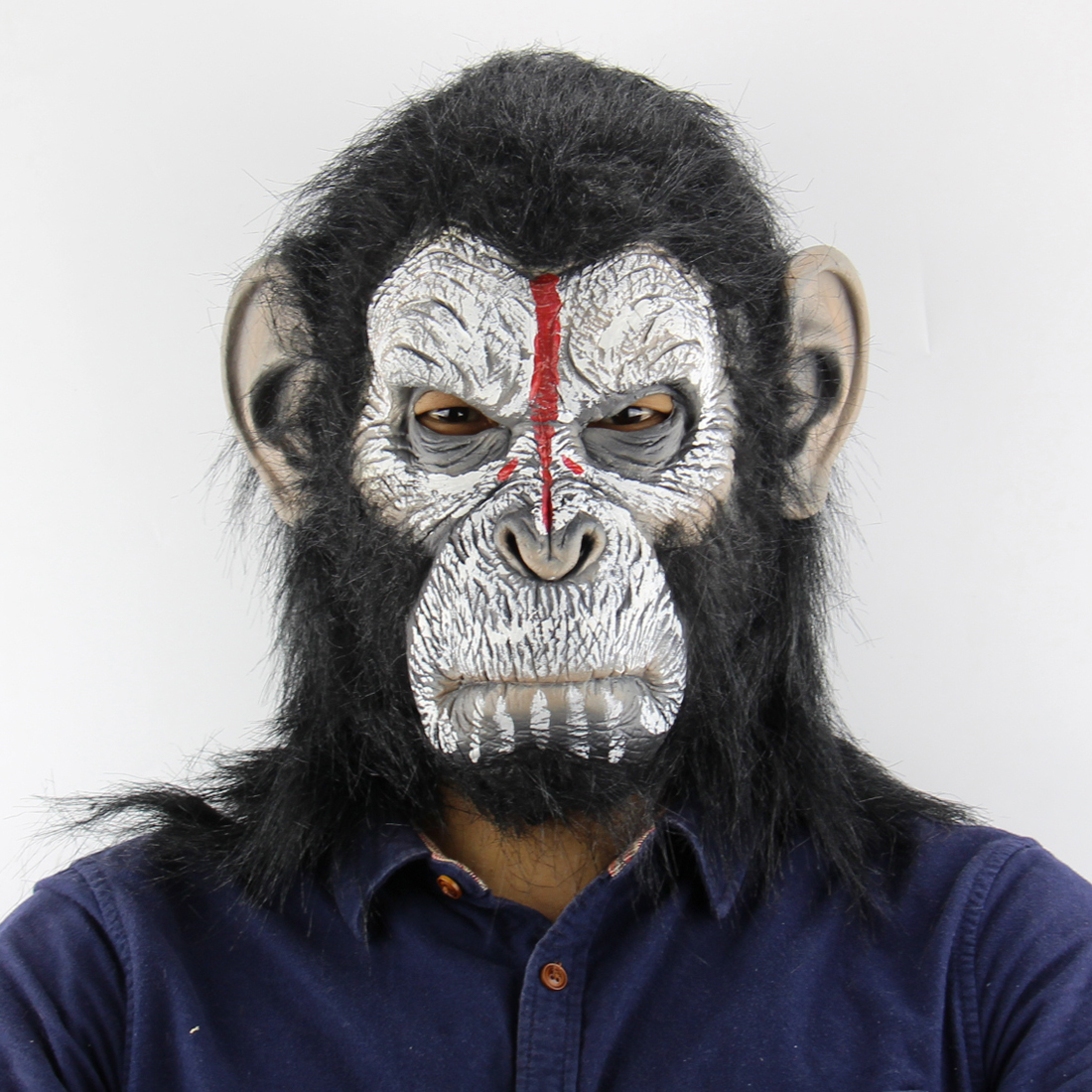 Gorilla Monkey Halloween Masks Adult Full Face Funny Mask Latex Halloween Party Cosplay Costume Masquerade Realistic Masks fishtail braid with hair accessory