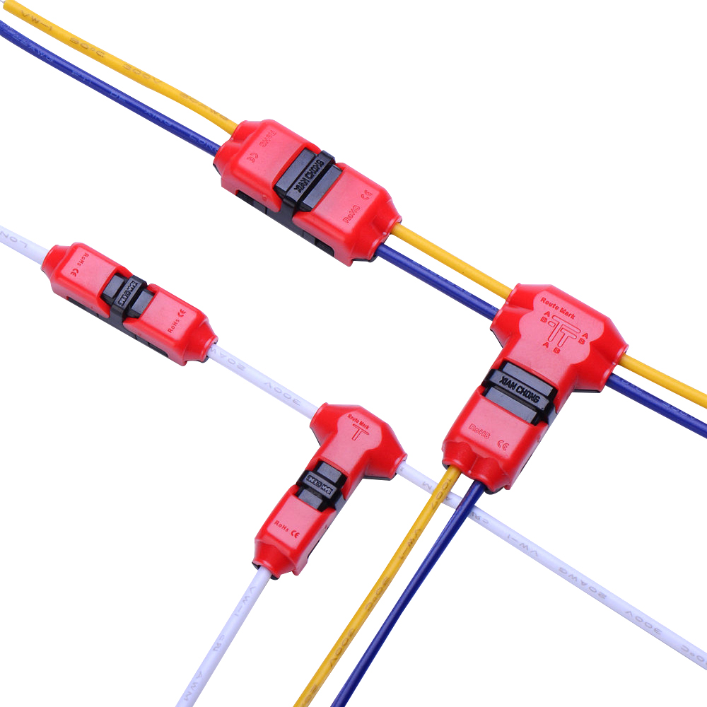 hight resolution of 10pcs quick splice wire wiring connector for awg22 18 1 2pin led strip wire