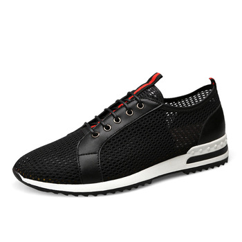 Summer Handsome Mesh Skateboarding Shoes Youth Man Outdoor Sport Basketball Walking Shoes Breathable Mens Athletic Jogging Shoes
