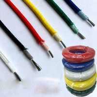 High temperature wire silicone fiberglass braided wire 300 degree high temperature resistant wire single core copper wire