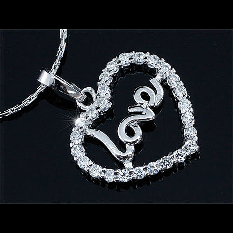 Peacock Star Heart Love 3 Carats CZ Simulated Stone Pendant & Necklace CSN392