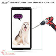 2Pcs/lot Tempered Glass For Global Version Xiaomi Redmi 6A 6 A 2GB 16GB Smartphone 5.45'' Screen protective cover 9H on toughene смартфон xiaomi redmi 6a 2gb 32gb dark grey global