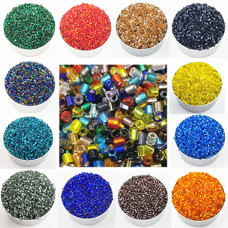 4864690583 1000PCS Pack Hot Sale 18Colors Cylindrical Glass Diameter 2mm DIY For  Necklace Bracelets Loose Beads