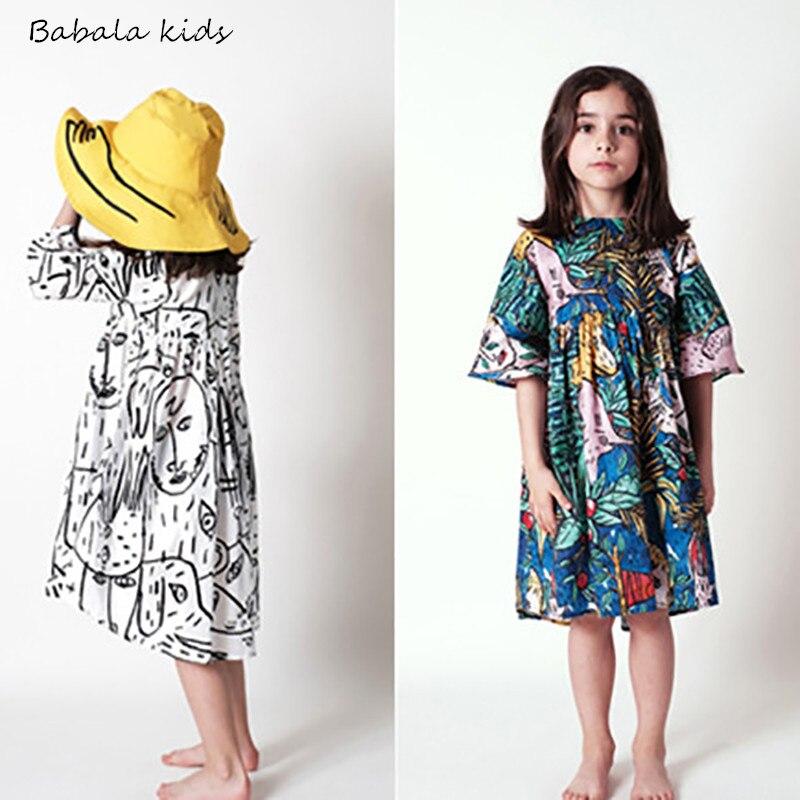 mother and daughter dress GIRLS BOBO CHOSES VETEMENT ENFANT brand kdis clothes girls flower party dress kids formal dresses
