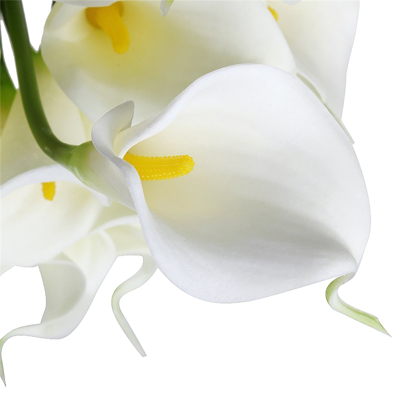 10pcslot calla pu artificial flowers ivory white flower yellow 10pcslot calla pu artificial flowers ivory white flower yellow stamen bouquets home shop wedding bridal decorative flowers in artificial dried flowers mightylinksfo