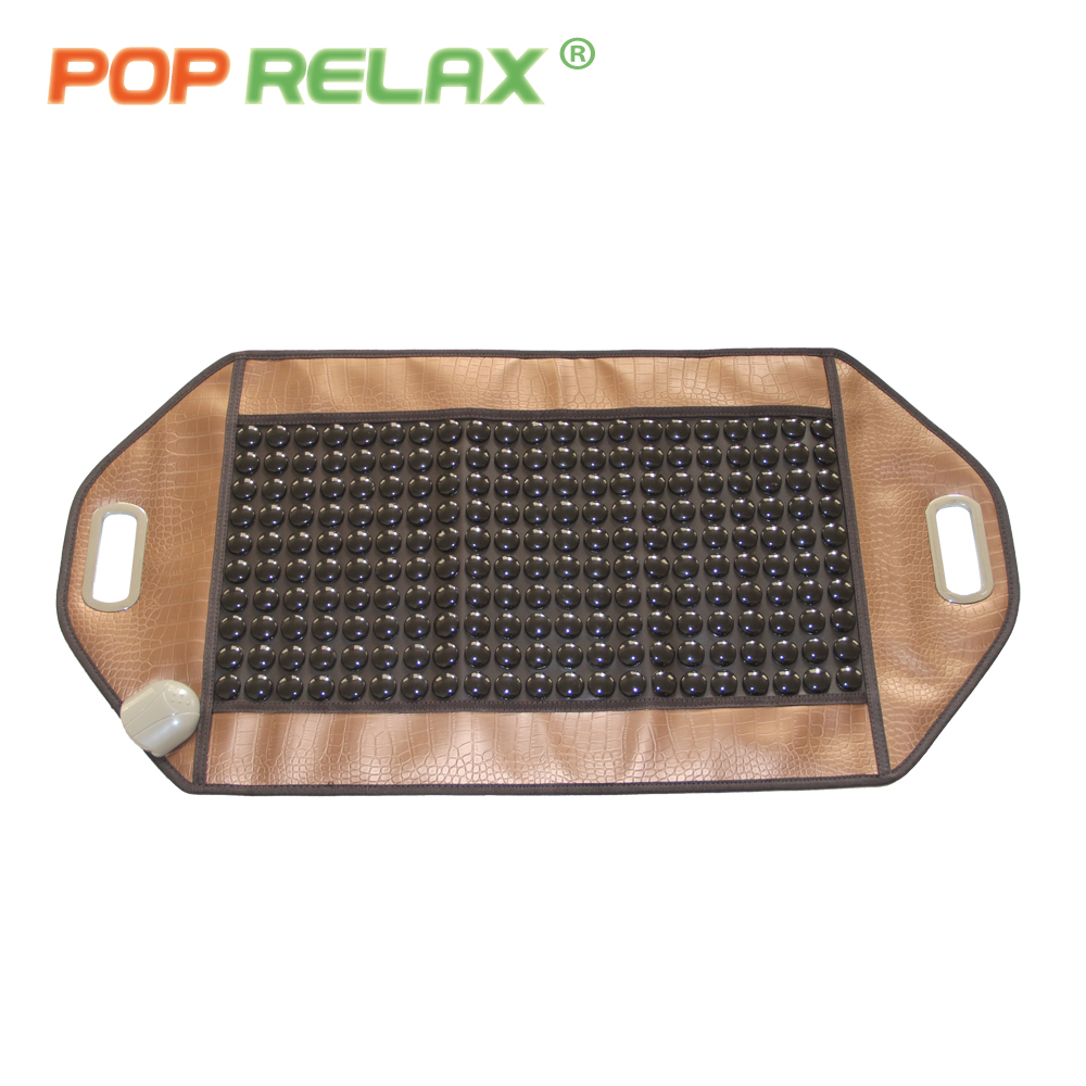 POP RELAX 110V tourmaline mat stone massage pad health care far infrared thermal physical therapy ion heating massage mattress pop relax 110v health massage mat stone mattress red photon light therapy tourmaline maifan body pain relief heating mattress