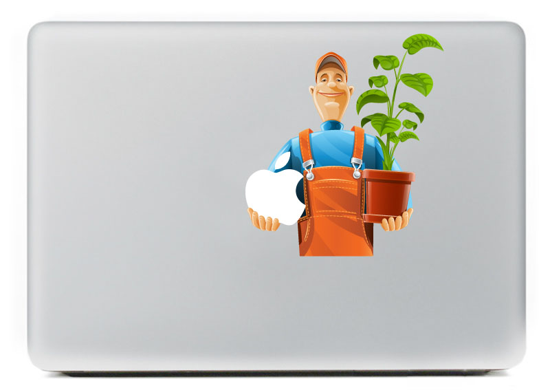 Smiling farm uncle Contestant Vinyl Decal for DIY Macbook Pro 13 15 inch and Air 11 13 inch Decal Skin Laptop Sticker