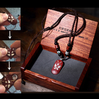 New The Illusionist Locket Butterfly Pendant Magic Butterfly Trick Heart 990 Silver Necklaces Girl Birthday Valentine's Day Gift