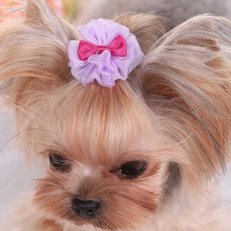 Anjing Kucing Lucu Jepit Rambut Anjing Peliharaan Aksesoris Perlengkapan Jepit Rambut Fashion Ikatan Simpul Anjing Rambut Klip Bulang Rambut Hewan Peliharaan Dekorasi