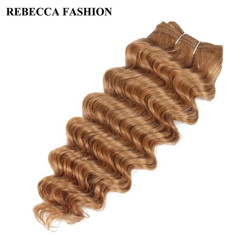 Remy бразильские пучки волос Remy, глубокая волна, 100 г, человеческие волосы, Переплетенные предварительно цветные коричневые волосы для наращивания волос салона 27 #30 #