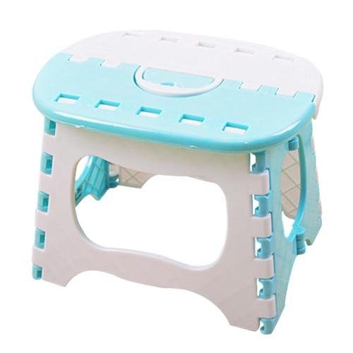 best plastic folding 6 type thicken step portable child stools light blue 245