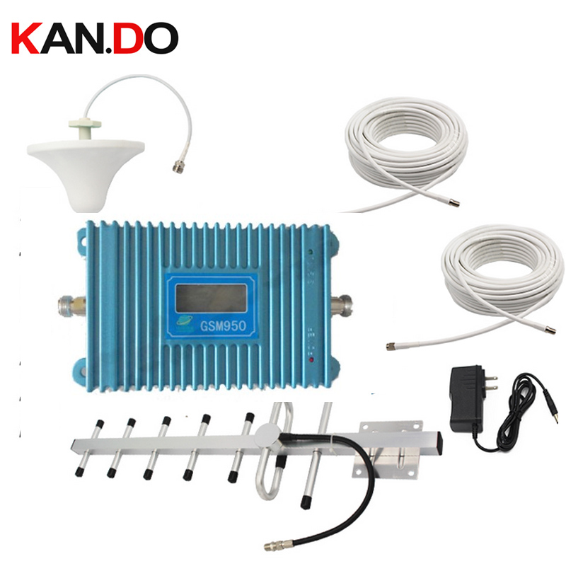 W/ 15 Meters Cable+Antennas,900Mhz GSM Repeater Signal Amplifier LCD Display Function GSM 900Mhz Mobile Phone Signal Booster