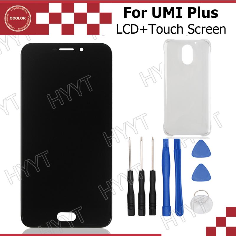 Prix pour Umi Plus LCD Affichage et Écran Tactile Assemblée Réparation Partie 5.5 pouce Mobile Accessoires Pour Umi Plus E + Outils et Adhésif + Cas