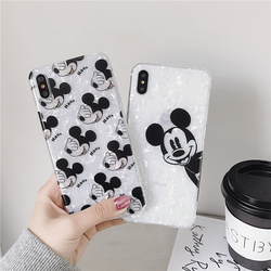 Phone Case For iPhone 6 6s 7 8 Plus Case iPhone X XS XR Xs Max Dream Shell Mickey Minnie Mouse Love Heart Fruit Case Soft Cover 1