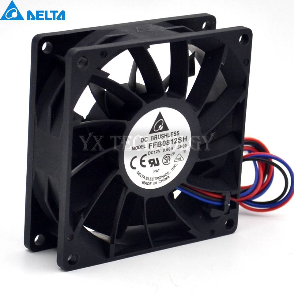 цены Delta New and original inverter fan FFB0812SH 8025 12V big fan pressure 80*80*25mm