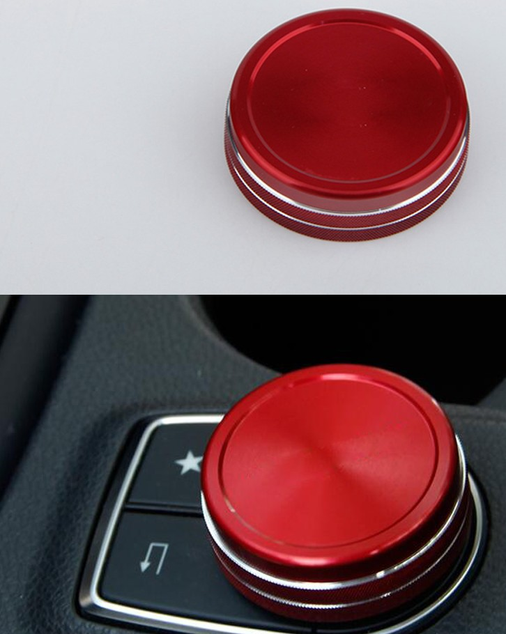 car multimedia knob decoration/multimedia control knob cover Fit for Mercedes Benz A B E GLC GLA GLK GLE ML GL Class decoration trim car door window lift cover armrest button decoration for mercedes benz gla glk cls ml300 320 350 450 500 gl350