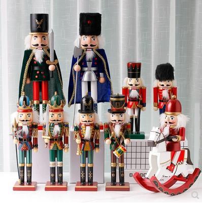 Créatif britannique casse-noisette marionnette soldat artisanat décoration, créatif famille noël décoration cadeau