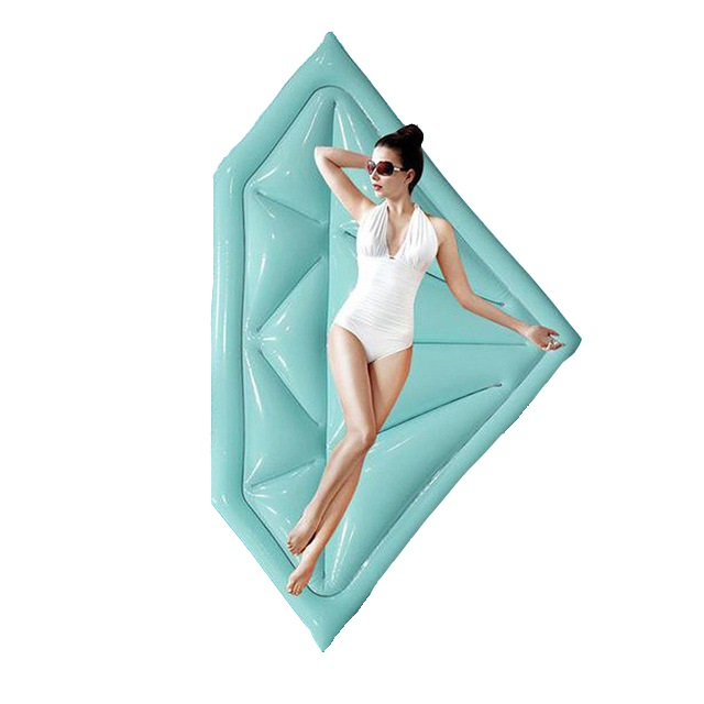 175*105cm Giant Inflatable Diamond Pool Float Blue Ride-On Swimming Mattress Adult Water Holiday Party Toy Lounger Piscina,HA069