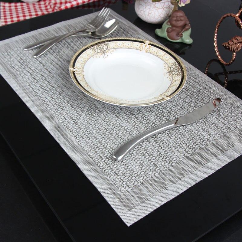 1X DIY Placemat Coasters Heat-insulated PVC Bowl Dish Waterproof Pad Table Mat