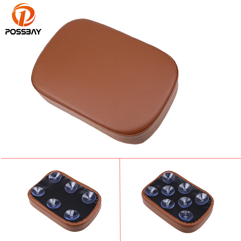 POSSBAY Brown Motorcycle Rear Passengers Pillion Pad Seat Scooter Parts For Harley Dyna Sportster Softail Touring XL 883 1200