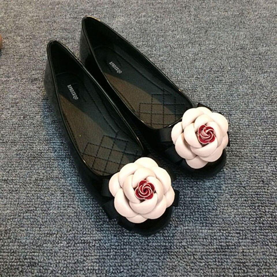 Patente Floral Sapatos Rasos Para Mulheres Com
