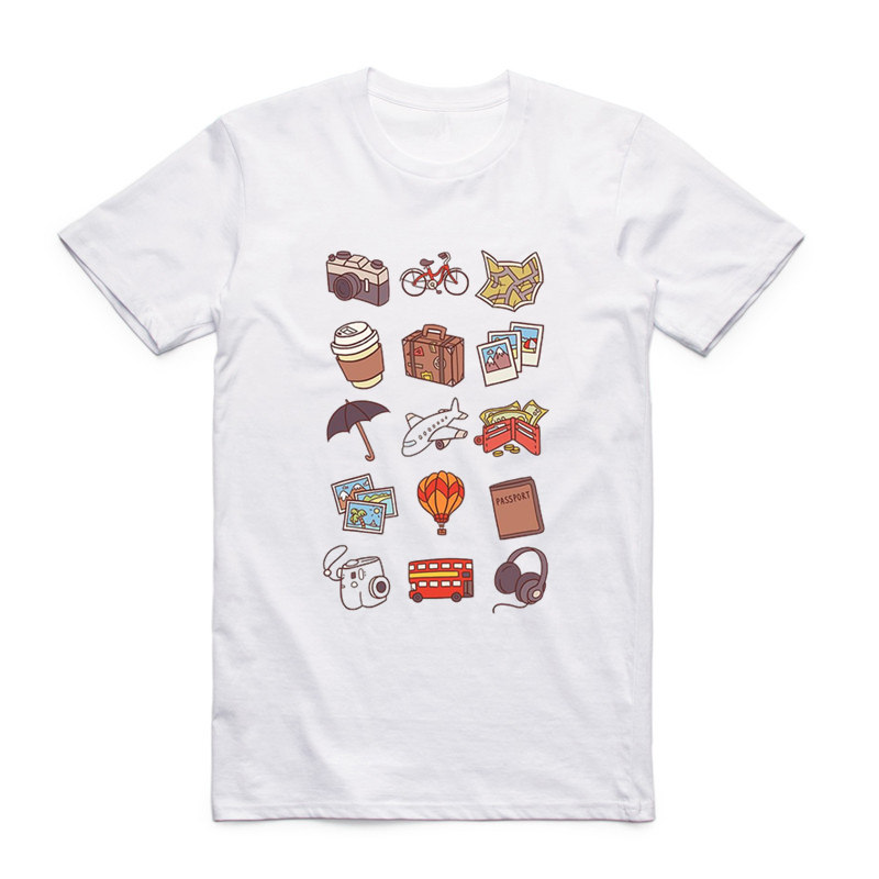 Us 7 25 34 Off Asian Size Men And Women Travel Icon T Shirt O Neck Short Sleeve Traveller Backpacking Global World Iconspeak T Shirt Hcp986 In