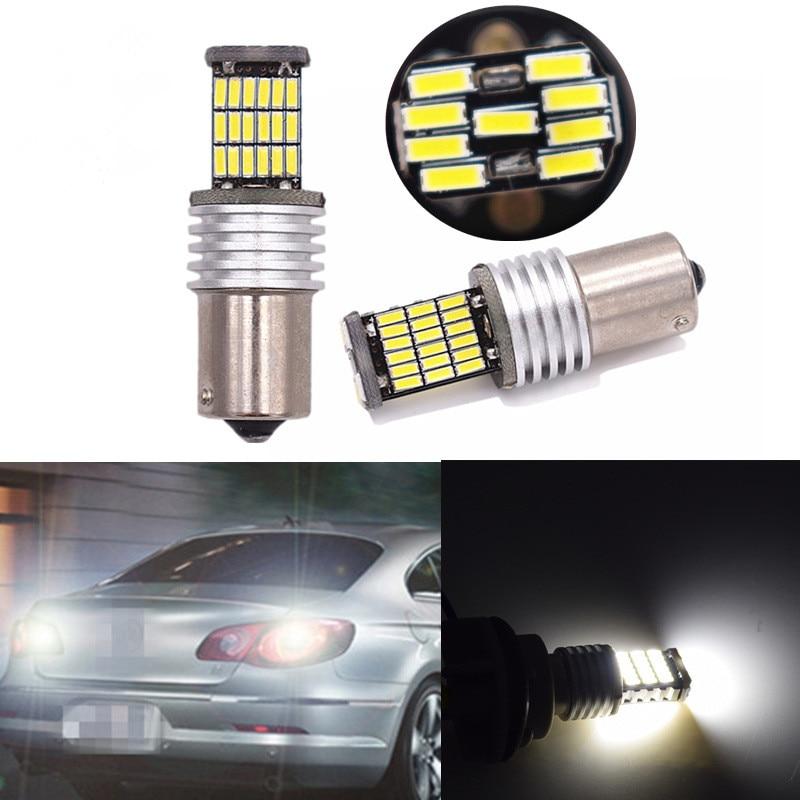 2Pcs 1156 car led steering light 45smd4014 high power led reversing light bulb T15T20 brake lights modified DC12V