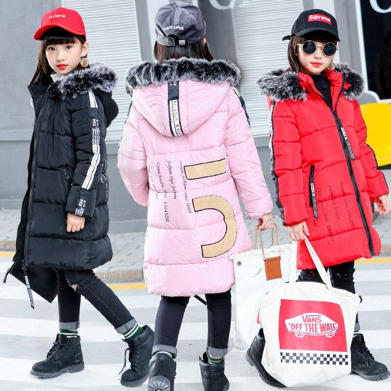 Nett Winter Verdicken Winddicht Warme Kinder Mantel Wasserdichte Kinder Oberbekleidung Baumwolle Füllstoff Schwergewicht Mädchen Jacken Für 4-12 Jahre Alt