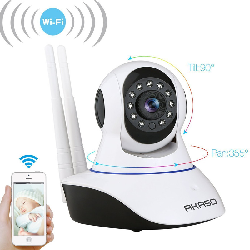 AKASO wireless wifi ip camera 720p wi fi cctv home security camera surveillance P2P Night Vision