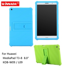 Silicone case for Huawei MediaPad T3 8 8.0 cover soft rubber tablet coque para KOB-W09/AL09