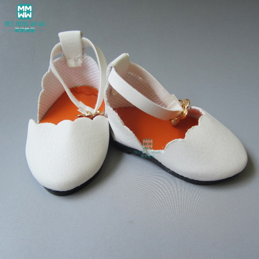 7cm Fashion leather toy shoes for 18 inch 45CM American Girls Zapf baby born doll accessories