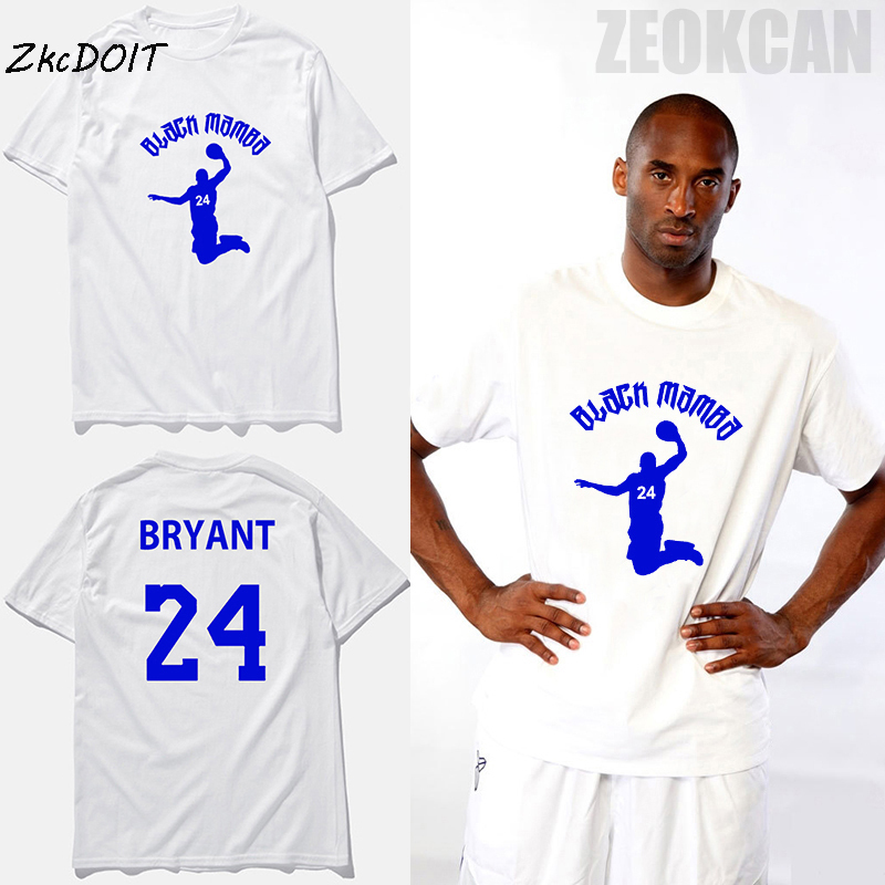 1beaedcf5 Kobe Bryant  24 t shirt for men spring summer black mamba white traning  plain round neck short sleeves t shirts
