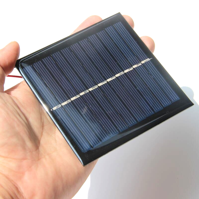 Wholesale 100PCS/Lot Mini Solar Cell With Calbe 1W 5.5V Solar Panel DIY Solar Toys/Solar Charger For 3.7V Battery Education Kits