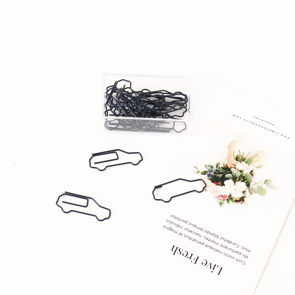 TUTU 20Pcs/lot Car Bus Bookmark Planner Paper Clip Metal Material Bookmarks For Book Stationery School Office Supplies H0293