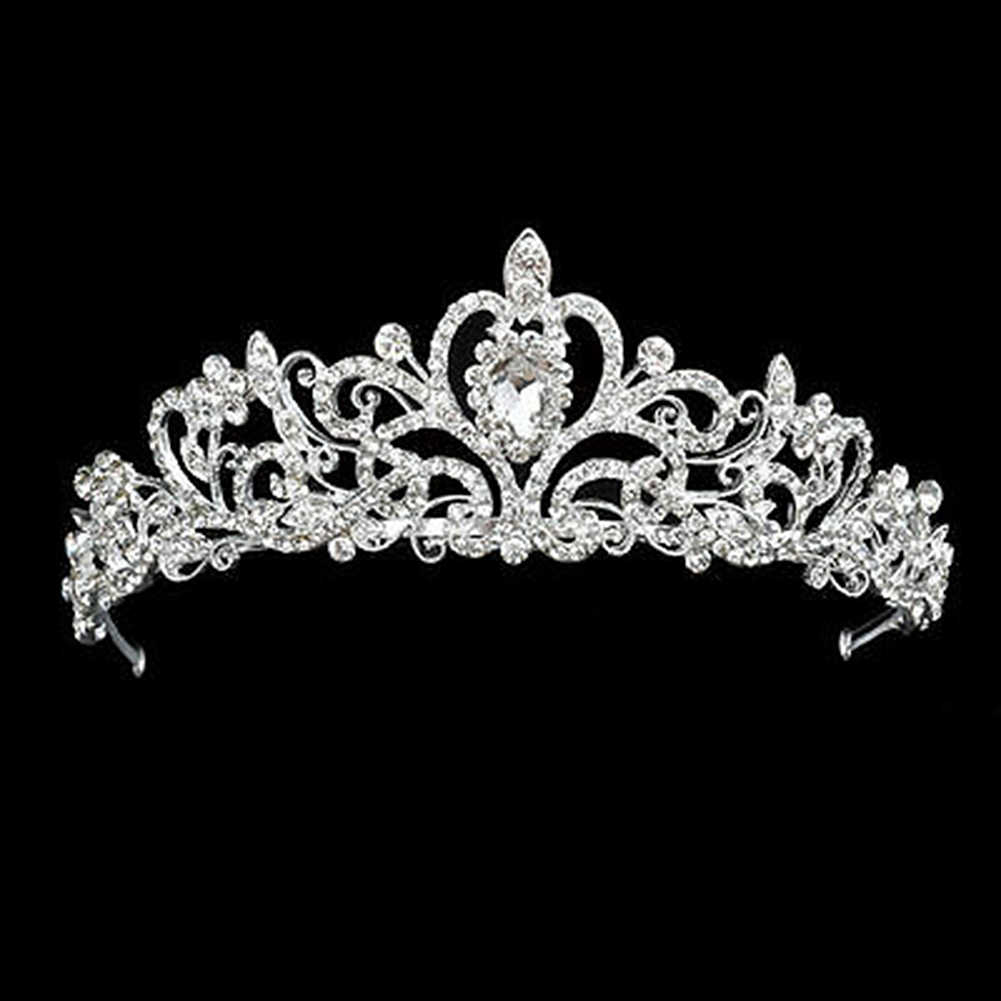 Venda de diamantes de imitación de cristal para niños pequeños diadema para el cabello Niña Accesorios para el cabello, lazos sombrero recién nacido Tiara regalo