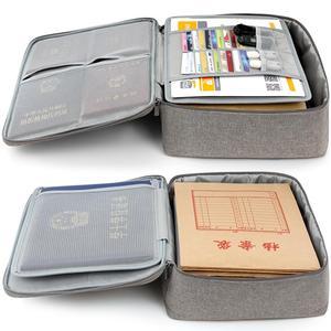 Image 2 - Boona אוקספורד עמיד למים מסמך תיק ארגונית ניירות אחסון פאוץ תיק אישורים תעודת אחסון קובץ כיס עם מפריד