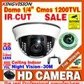 HD Настоящее 1/3 cmos 1200TVL Видеонаблюдения Аналоговые Камеры Видеонаблюдения в Помещении КУПОЛ 22 Светодиодов Инфракрасного IRCUT Ночного Видения цвет Главная Видео