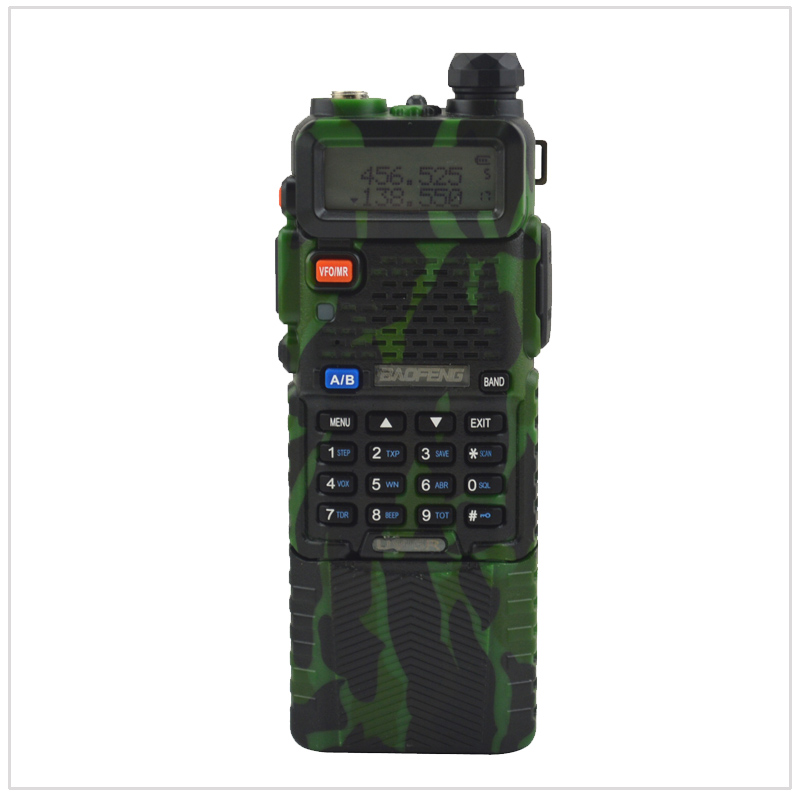 baofeng UV-5R dualband Camouflage walkie talkie 136-174/400-520MHz two way radio w/ free earpiece and 3800mAh Li-ion battery