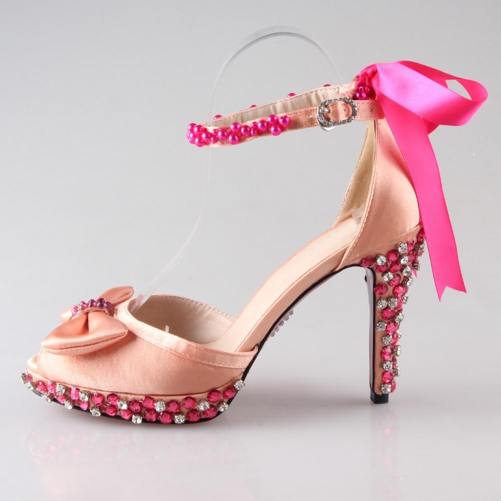 D' scarpe Handmade donna Orsay Cristallo sandali fiocco wnastro PiZuTlOwXk