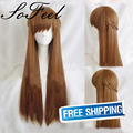 Sofeel the master of skill national team Mucheng Su 80cm straight  light brown lolita wig perruque synthetic women cosplay wigs