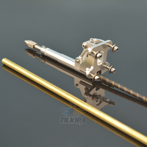 Image 5 - Левый/правый гибкий кабель 6,35 мм, опора из нержавеющей стали, вал привода для собаки, опора из латуни, пластиковая трубка, кронштейн для радиоуправляемой лодки