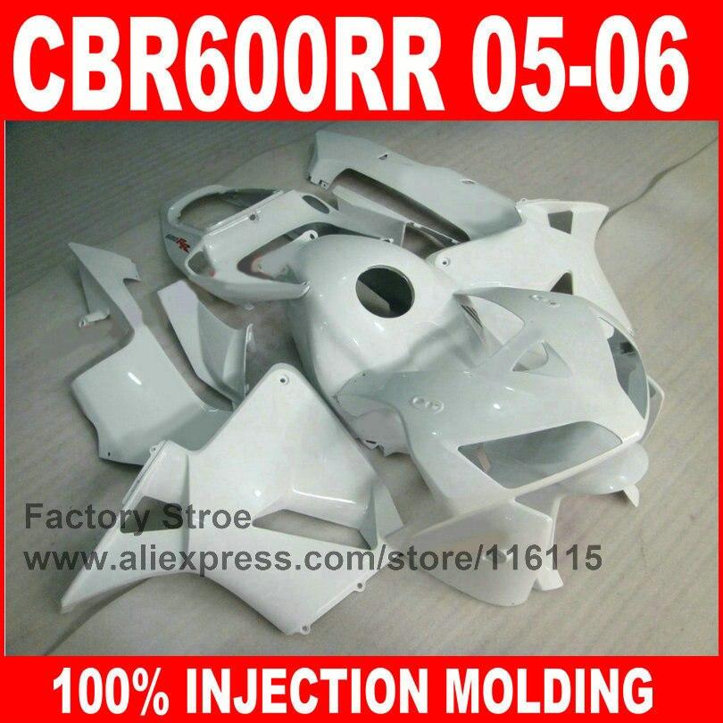 Custom paint 100% Injection Molding parts for HONDA 2005 2006 CBR 600RR 05 06 CBR600RR fairings full white fairing kits