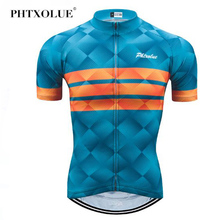 Phtxolue Summer Cycling Jersey Mountain Bike Clothing Racing MTB Bicycle Clothes 100% Polyester Uniform