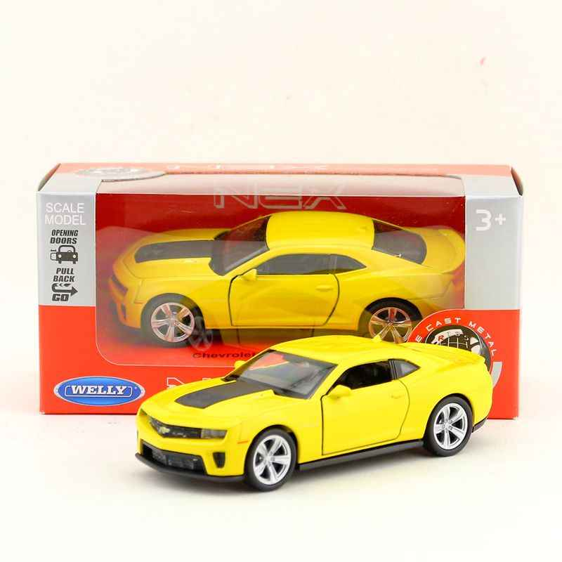 WELLY 1/36 Scale Car Model Toys Chevrolet Diecast Metal Pull Back Car Toy For Collection,Gift,Kids