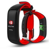 P1 Color Screen Pedometer Watches Blood Pressure Heart rate Monitor Fitness Watch Fitness Bracelet Smart Band for ios android os