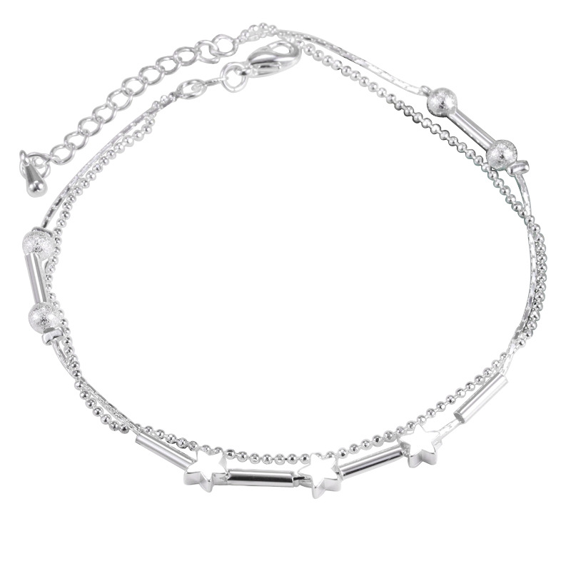 2019 Pure 925 Sterling Silver Anklet Fine Fashion Jewelry Simple Foot Chain For Women Girl S925 Silver Ankle Chain Leg Bracelets