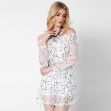 2017 New Vestidos Summer Dress Women Chiffon Mesh Ukraine Club Party Dresses Off Shoulder Dress Sexy High Quality Black Vestido