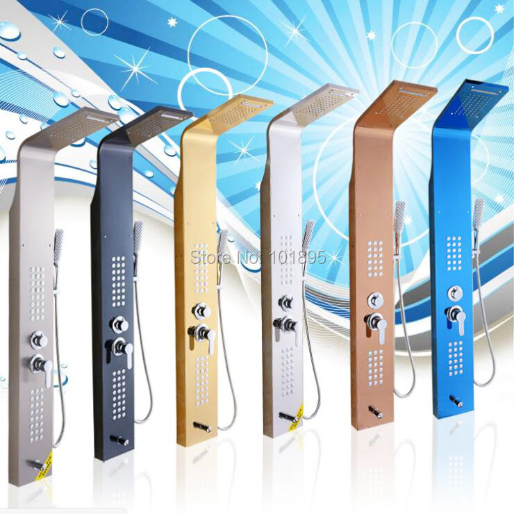 X11601 Luxury 6 Colors and 5 Functions of 304 Stainless Steel Rainfall Shower Panel attachment and mentoring functions of career and psychosocial support
