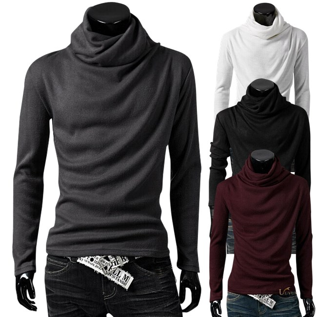 autumn fashion pile collar design all match long sleeved T shirt ...