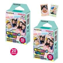 Для Fujifilm Instax Mini 8 9 50 s 70 90 фото мгновенная камера поделиться SP-1 SP-2 принтер Fuji мини пленка Витражная рамка 20 листов